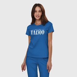 Пижама хлопковая женская Taboo: Denzel Curry цвета синий — фото 2