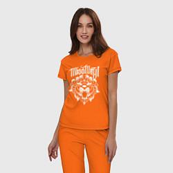 Пижама хлопковая женская Miss May I: Angry Lion цвета оранжевый — фото 2