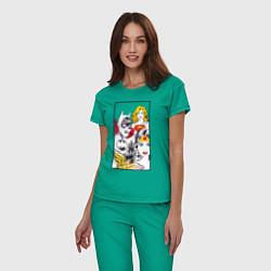Пижама хлопковая женская Justice League superheroines цвета зеленый — фото 2