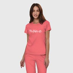 Пижама хлопковая женская SAYONARA BOY цвета коралловый — фото 2