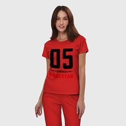 Пижама хлопковая женская 05 Dagestan цвета красный — фото 2