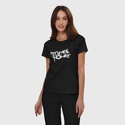 Пижама хлопковая женская My Chemical Romance spider на спине цвета черный — фото 2