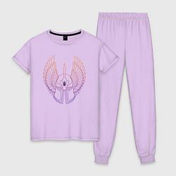 Пижама хлопковая женская Might & Magic цвета лаванда — фото 1