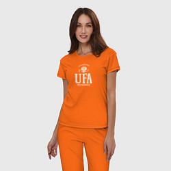 Пижама хлопковая женская Уфа Born in Russia цвета оранжевый — фото 2