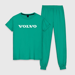 Пижама хлопковая женская VOLVO цвета зеленый — фото 1