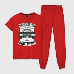 Пижама хлопковая женская Impala Winchesters цвета красный — фото 1