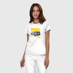 Пижама хлопковая женская Back to the Future цвета белый — фото 2