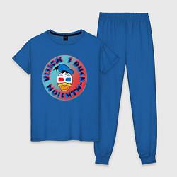 Пижама хлопковая женская Duck Vision цвета синий — фото 1