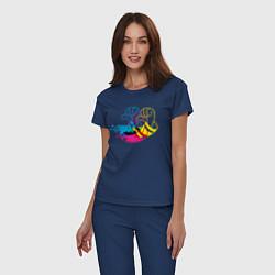 Пижама хлопковая женская Дональд Дак цвета тёмно-синий — фото 2
