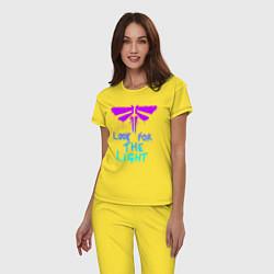 Пижама хлопковая женская ЦИКАДЫ LOOK FOR THE LIGHT цвета желтый — фото 2