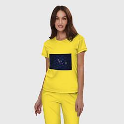 Пижама хлопковая женская Pacman цвета желтый — фото 2