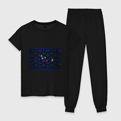 Пижама хлопковая женская Pacman цвета черный — фото 1