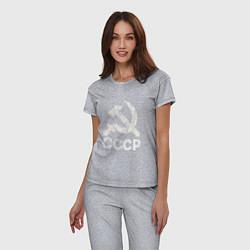 Пижама хлопковая женская СССР цвета меланж — фото 2