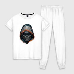 Пижама хлопковая женская Taskmaster цвета белый — фото 1