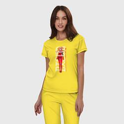 Пижама хлопковая женская Asuka цвета желтый — фото 2