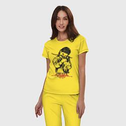 Пижама хлопковая женская Chelsea Grin: Demon Girl цвета желтый — фото 2