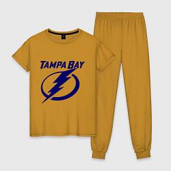Пижама хлопковая женская HC Tampa Bay цвета горчичный — фото 1
