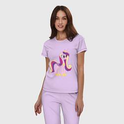 Пижама хлопковая женская Принцесса Каденс цвета лаванда — фото 2