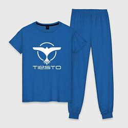 Пижама хлопковая женская Tiesto цвета синий — фото 1