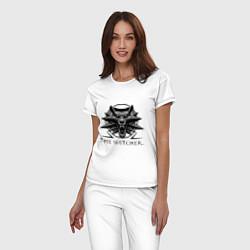 Пижама хлопковая женская The Witcher 3 цвета белый — фото 2