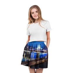 Юбка-солнце 3D женская Москва цвета 3D-принт — фото 2