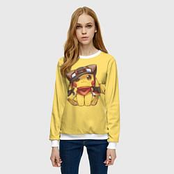 Свитшот женский Pikachu цвета 3D-белый — фото 2
