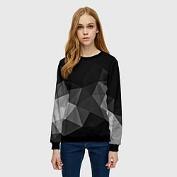 Свитшот женский Abstract gray цвета 3D-черный — фото 2