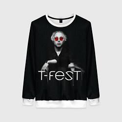 Свитшот женский T-Fest: Black Style цвета 3D-белый — фото 1