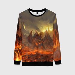 Свитшот женский Linage II: Fire Dragon цвета 3D-черный — фото 1