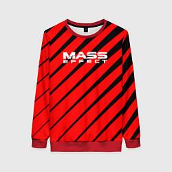 Свитшот женский Mass Effect: Red Style цвета 3D-красный — фото 1
