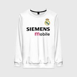 Свитшот женский FC Real Madrid: Beckham Retro цвета 3D-белый — фото 1