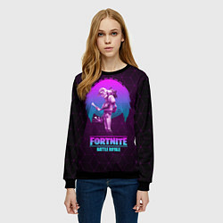 Свитшот женский Fortnite: Neon Battle цвета 3D-черный — фото 2