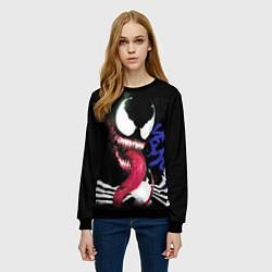 Свитшот женский Venom цвета 3D-черный — фото 2