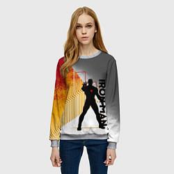 Свитшот женский Iron Man цвета 3D-меланж — фото 2