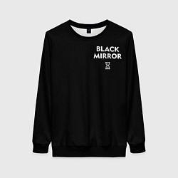Свитшот женский ЧЕРНОЕ ЗЕРКАЛО цвета 3D-черный — фото 1