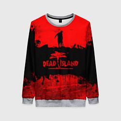 Свитшот женский Island of blood цвета 3D-меланж — фото 1