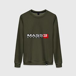 Свитшот хлопковый женский Mass Effect 3 цвета хаки — фото 1