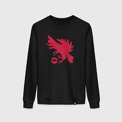 Свитшот хлопковый женский Warlock Eagle цвета черный — фото 1