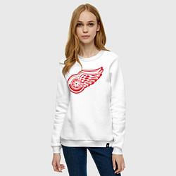 Свитшот хлопковый женский Detroit Red Wings: Pavel Datsyuk цвета белый — фото 2