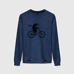 Женский свитшот Ежик на велосипеде