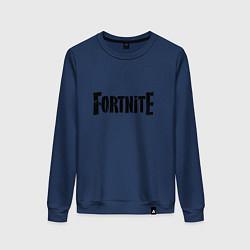 Свитшот хлопковый женский Fortnite Logo цвета тёмно-синий — фото 1