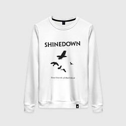 Свитшот хлопковый женский Shinedown: Sound of Madness цвета белый — фото 1