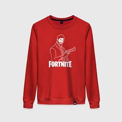 Свитшот хлопковый женский Fortnite Shooter цвета красный — фото 1