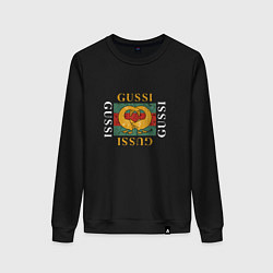 Свитшот хлопковый женский GUSSI Love цвета черный — фото 1