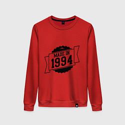 Свитшот хлопковый женский Made in 1994 цвета красный — фото 1