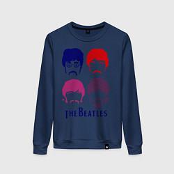 Женский свитшот The Beatles faces