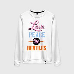 Женский свитшот Love peace the Beatles