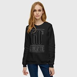 Свитшот хлопковый женский Made in the 60s цвета черный — фото 2