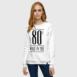 Свитшот хлопковый женский Made in the 80s цвета белый — фото 2