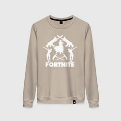 Свитшот хлопковый женский Fortnite Team цвета миндальный — фото 1